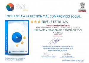 Certificado 3 estrellas Fibrosis