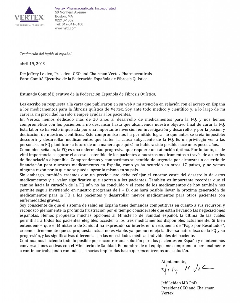 Carta de Leiden Vertex